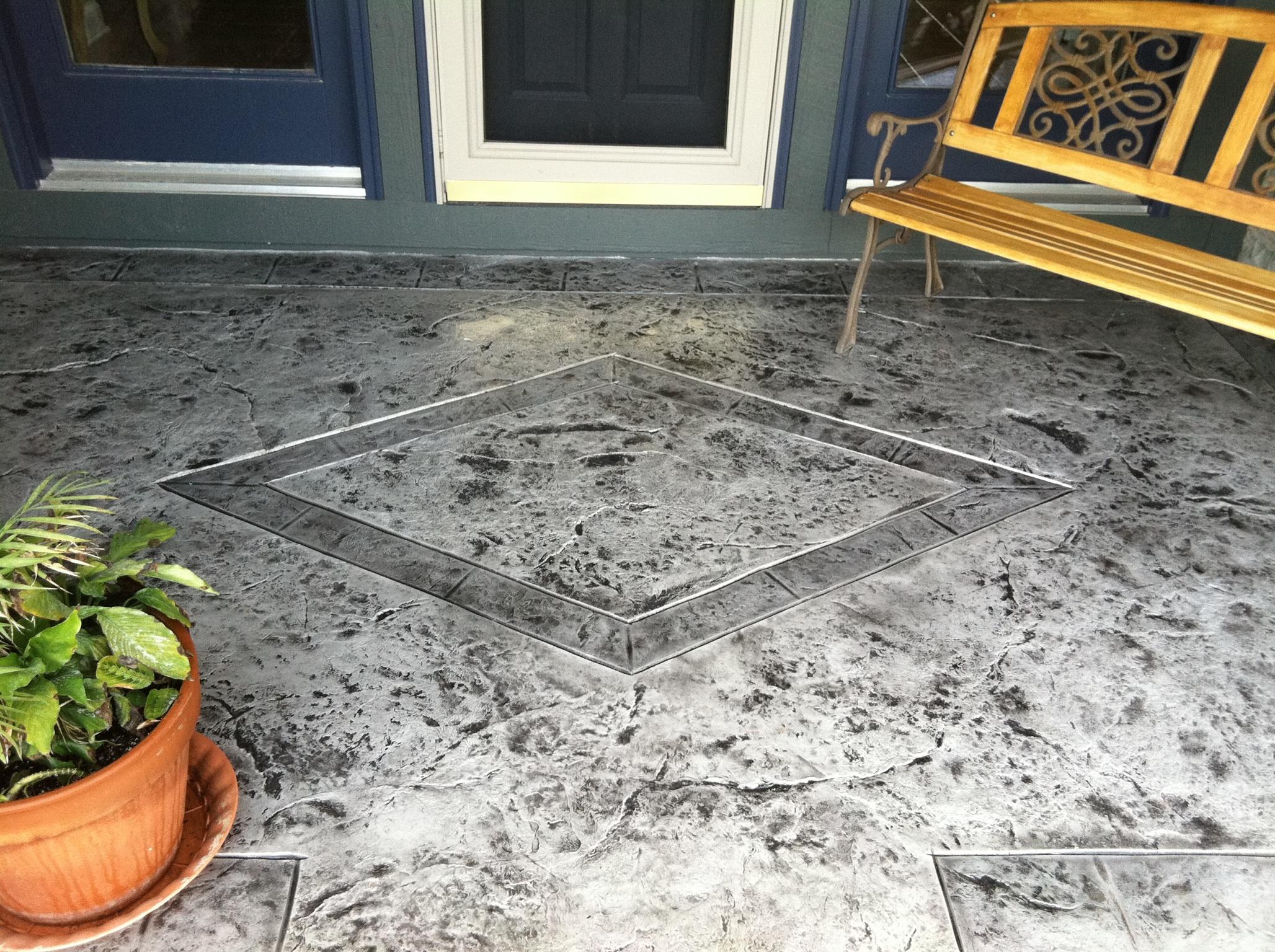 restoration decor decorative stamped concrete overlay